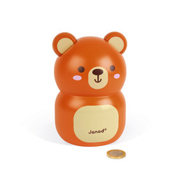 Janod Janod - Wooden Piggy Bank Bear