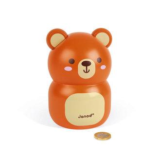 Janod Janod - Wooden Piggy Bank Bear