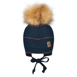 Perlimpinpin Perlimpinpin - Pompom Hat, Navy Stripe