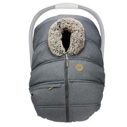 Petit Coulou Petit Coulou - Winter Baby Car Seat Cover, Anthracite Wolf