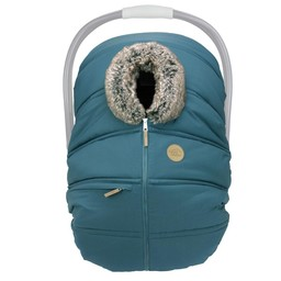 Petit Coulou Petit Coulou - Winter Baby Car Seat Cover, Teal Wolf