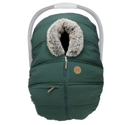 Petit Coulou Petit Coulou - Winter Baby Car Seat Cover, Boreal Wolf