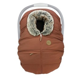 Petit Coulou Petit Coulou - Winter Baby Car Seat Cover, Sequoia Wolf