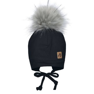 Perlimpinpin Perlimpinpin - Pompom Hat, Black