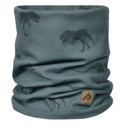 Perlimpinpin Perlimpinpin - Cotton Jersey Neck Warmer, Grey Dino, 0-30 Months