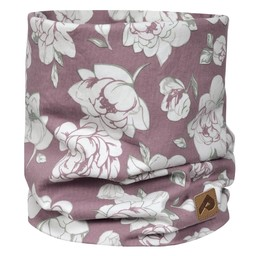 Perlimpinpin Perlimpinpin - Cotton Jersey Neck Warmer, Plum Peony, 0-30 Months