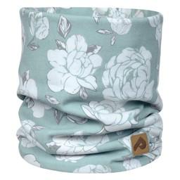 Perlimpinpin Perlimpinpin - Cotton Jersey Neck Warmer, Blue Peony, 0-30 Months