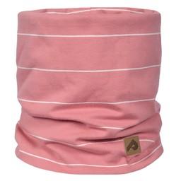Perlimpinpin Perlimpinpin - Cotton Jersey Neck Warmer, Pink White Stripe, 0-30 Months