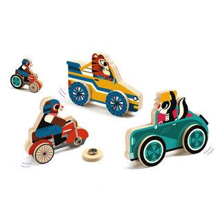 Djeco Djeco - Clipacar Snap Buttons Vehicles