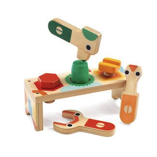 Djeco Djeco - Bicolou Wood Tool Set