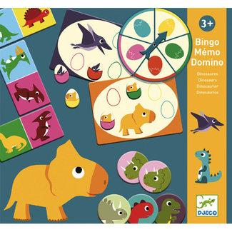 Djeco Djeco - Bingo Memo Domino Game, Dinosaurs