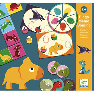 Djeco Djeco - Jeu Bingo Memo Domino, Dinosaures