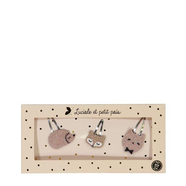 Luciole et petit pois Luciole et Petit Pois - Gift Box, The Trios, Pink