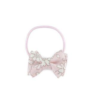 Luciole et petit pois Luciole et Petit Pois - Mini Double Bow Elastic, Liberty Capel Pink