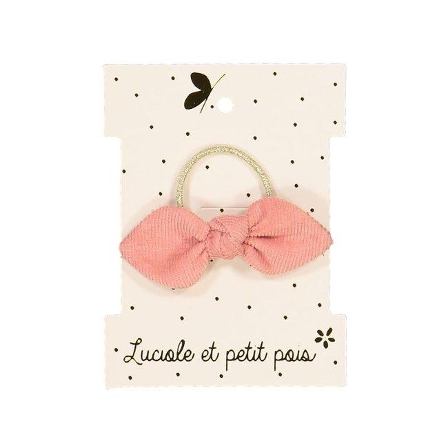 Luciole et petit pois Luciole et Petit Pois - Elastic Bow, Pink Velvet