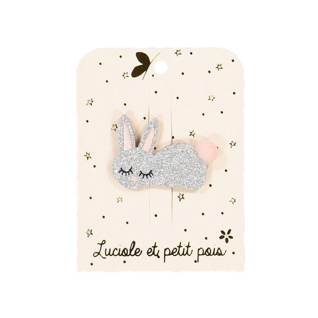 Luciole et petit pois Luciole et Petit Pois - Hair Clip, Silver Bunny