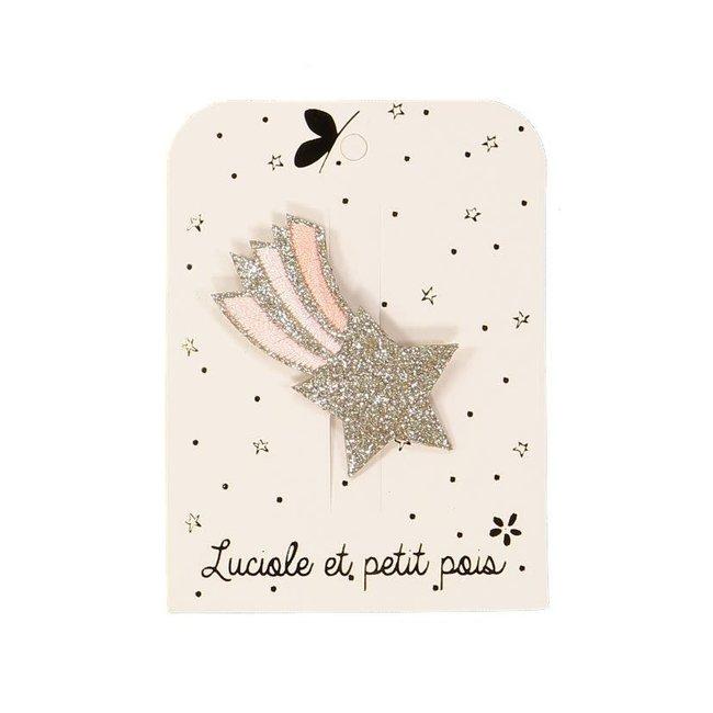 Luciole et petit pois Luciole et Petit Pois - Hair Clip, Pink Shooting Star