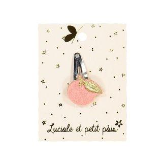 Luciole et petit pois Luciole et Petit Pois - Mini Hair Clip, Pink Apple