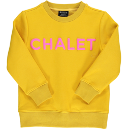 Birdz Children & Co Birdz - Chalet Sweat, Mustard Pink