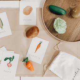 Pastel Pastel - Cartes d'Apprentissage, Légumes