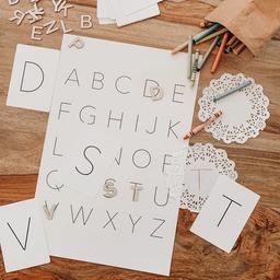 Pastel Pastel - Cartes d'Apprentissage, Alphabet Majuscule