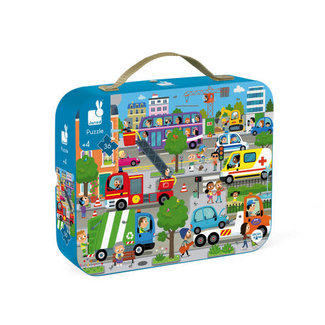 Janod Janod - 36 Pieces Puzzle, City