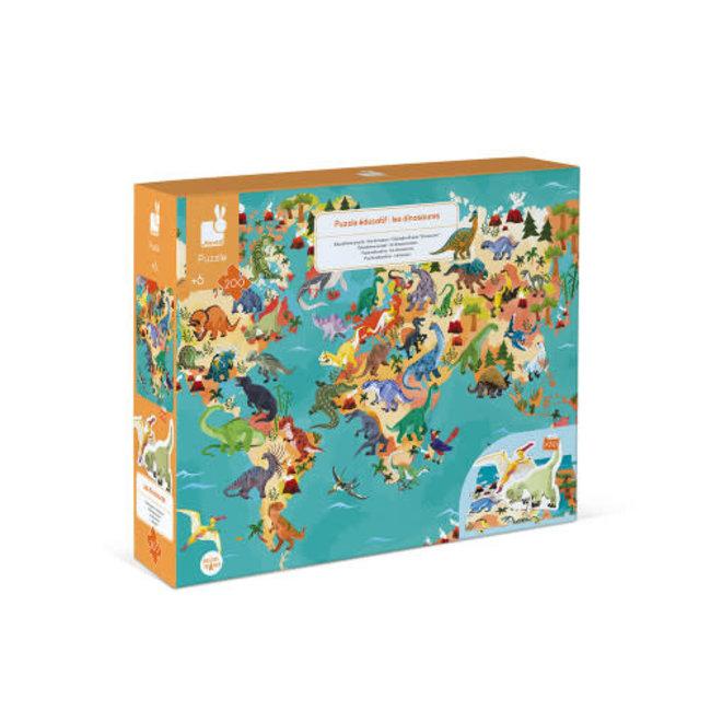 Janod Janod - 200 Pieces 3D Puzzle, Educational Dinosaurs