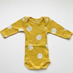 Petit Bateau Petit Bateau - Long Sleeves Romper, Dots Yellow