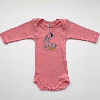 Petit Bateau Petit Bateau - Long Sleeves Romper, Bird Pink