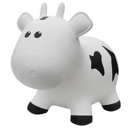 Farm Hoppers Farm Hoppers- Ballon Sauteur/Jumping Animals, Vache - Blanc/Cow - White