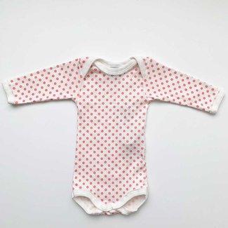 Petit Bateau Petit Bateau - Long Sleeves Romper, Little Pink Dots