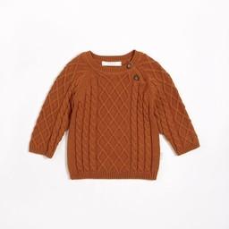 Petit Lem Petit Lem - Knit Sweater, Autumn Brown