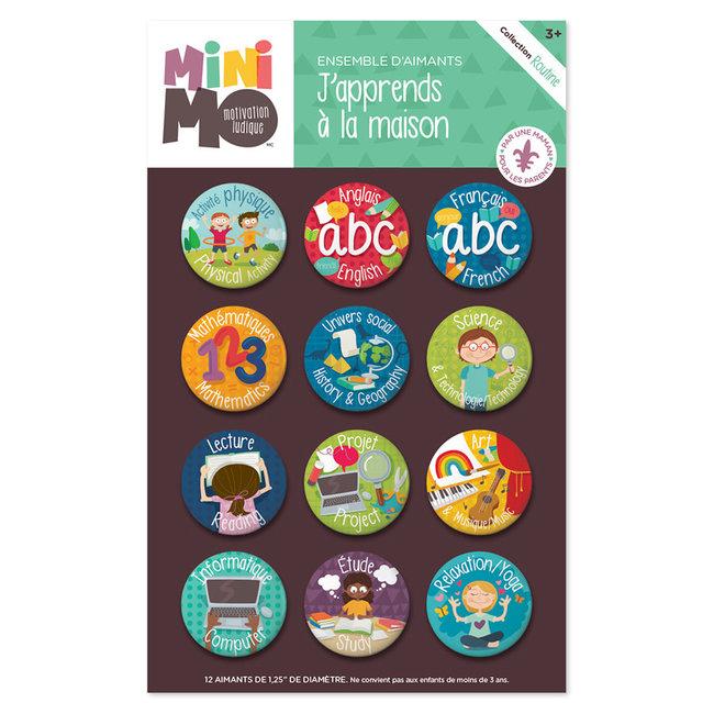 Minimo Minimo - Motivation Magnets Set, I Learn at Home