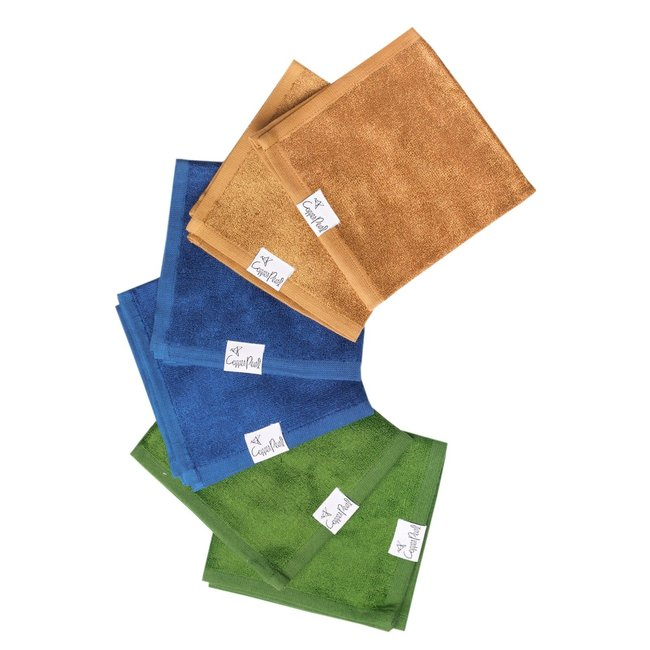 Copper Pearl Copper Pearl - Pack of 6 Ultra Soft Washcloths, River