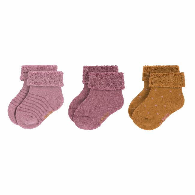 Lässig Lässig - 3 Pairs of Socks, Rosewood