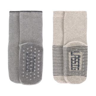 Lässig Lässig - 2 Pairs of Non-slip Socks, Beige