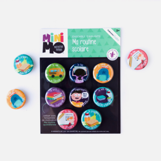Minimo Minimo - Motivation Magnets Set, My School Routine