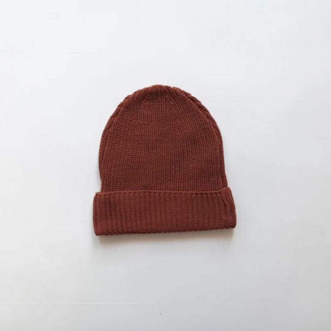 Kindly the label Kindly the Label - Chunky Knit Beanie, Brick