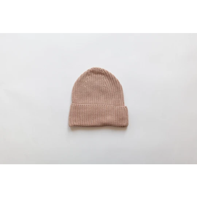 Kindly the label Kindly the Label - Chunky Knit Beanie, Pink Earth