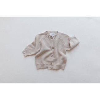Kindly the label Kindly the Label - Knit Cardigan, Light Beige