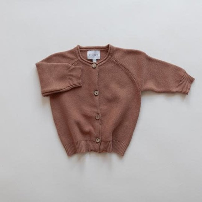 Kindly the label Kindly the Label - Knit Cardigan, Claypot