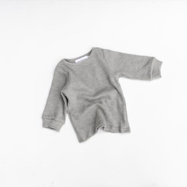 Kindly the label Kindly the Label - Waffle Long Sleeve, Grey