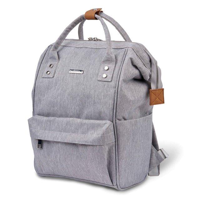 Bababing Bababing - Mani Diaper Backpack, Grey Marl