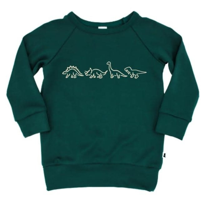 Little & Lively Little & Lively - Pullover, Juniper Dino Parade