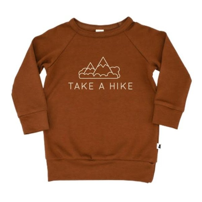 Little & Lively Little & Lively - Pullover, Chestnut Take a Hike