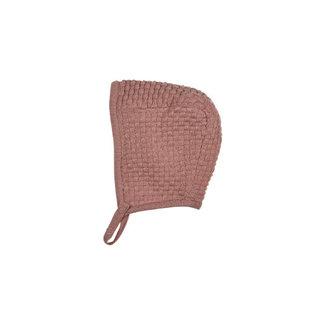Fixoni Fixoni - Knit Helmet, Misty Pink, 0-1 Month