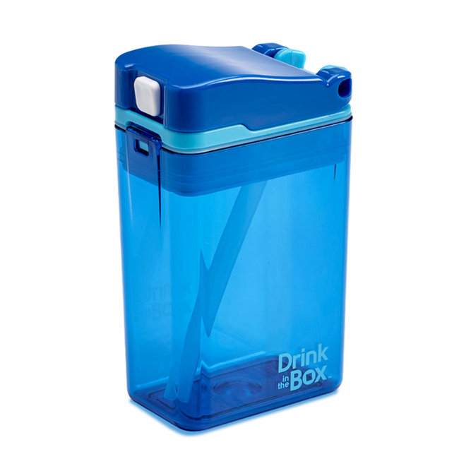 Juice in the Box Drink in the Box - Reusable Juice Box, Blue