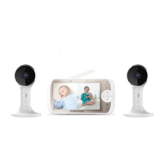 "Motorola Motorola - 5"" Full HD WiFi Video Baby Monitor Twin Set"