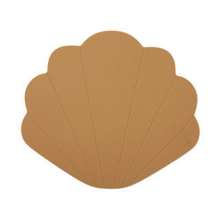 Konges Sløjd Konges Sløjd - Silicone Placemat Clam, Terra Cotta