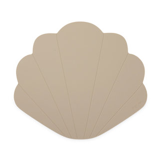 Konges Sløjd Konges Sløjd - Silicone Placemat Clam, Warm Grey